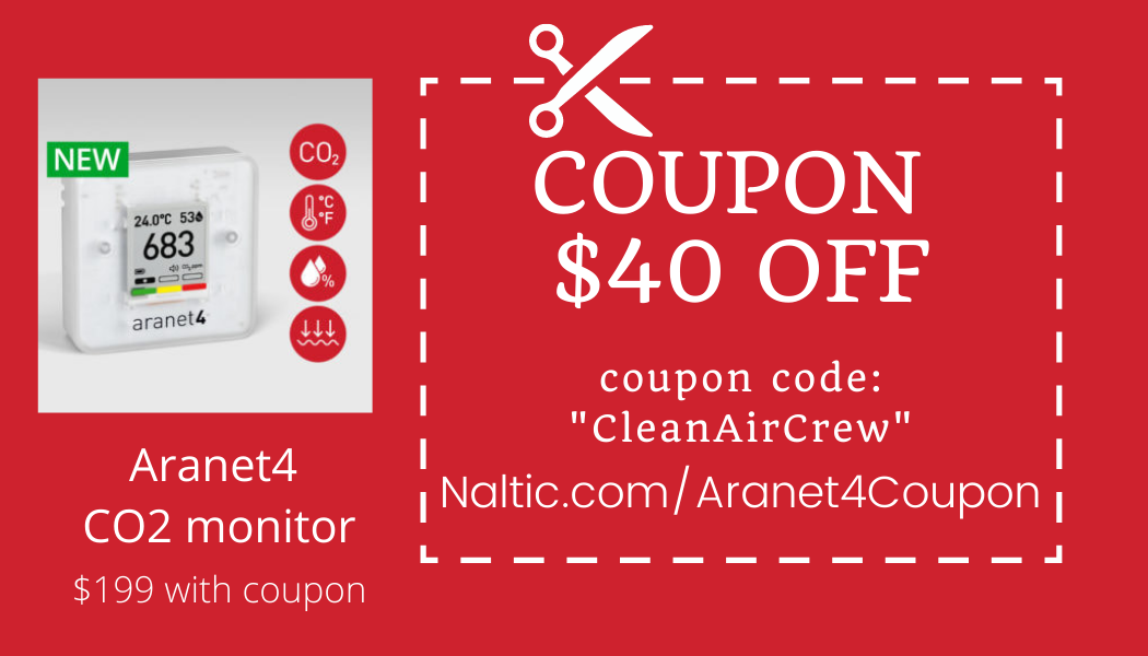 aranet4 co2 monitor coupon $40 off