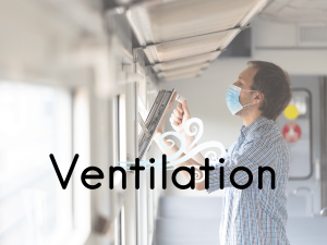 Ventilation open window wearing mask covid safety