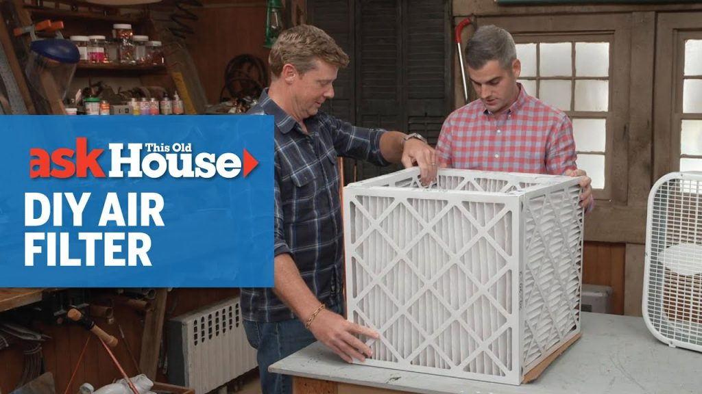 This Old House how to make a DIY air filter video - MERV 13 filters, box fan, duct tape