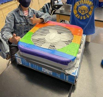 rainbow design single filter box fan filter corsi rosenthal design with box modification
